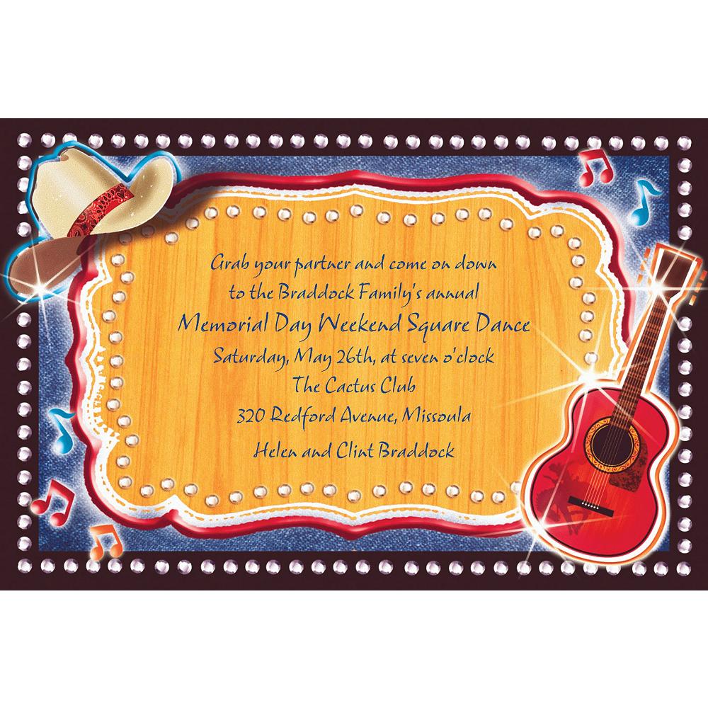 Custom Country Western Invitations Image #1