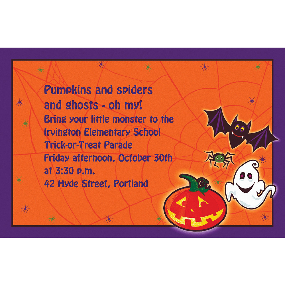 Custom Scared Silly Halloween Invitations Image #1