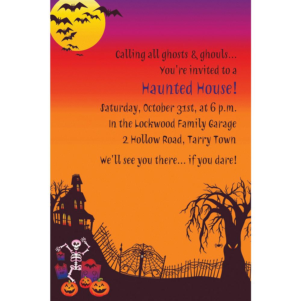 custom haunted hill halloween invitations