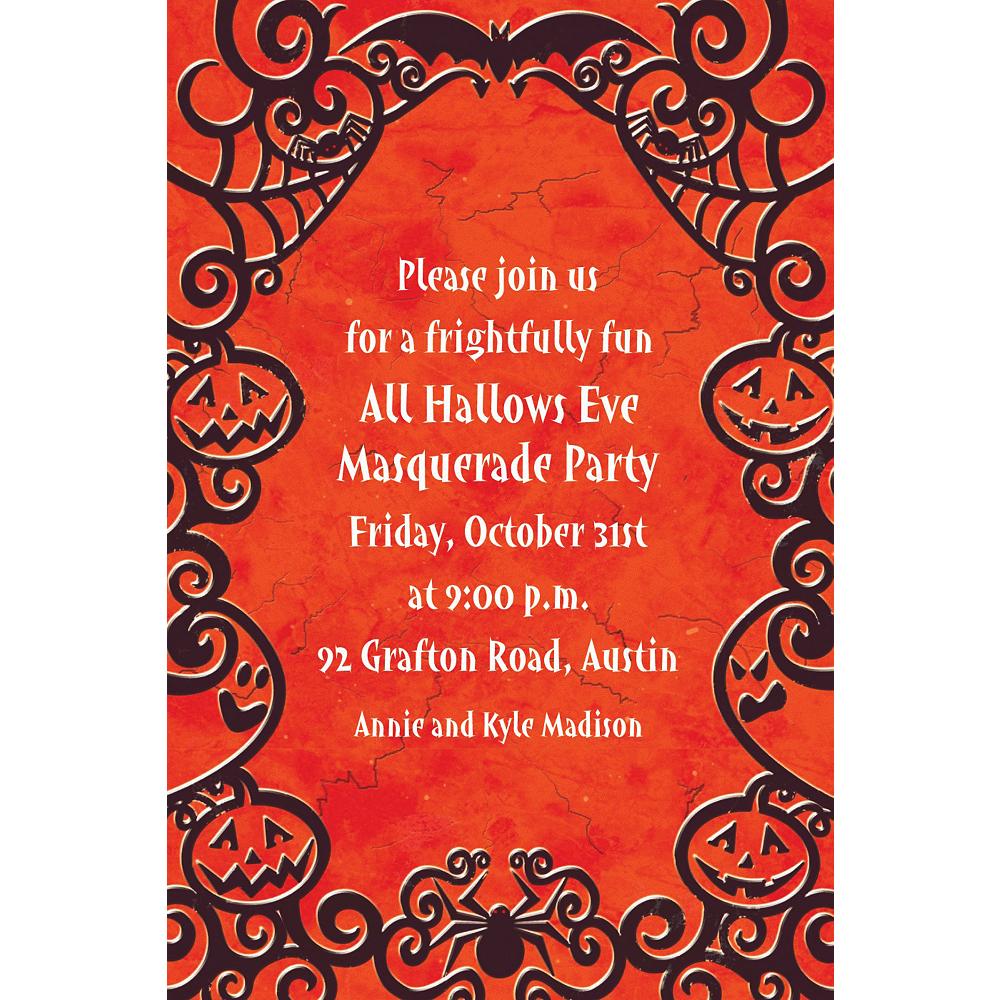 Custom Gothic Greetings Halloween Invitations Image #1