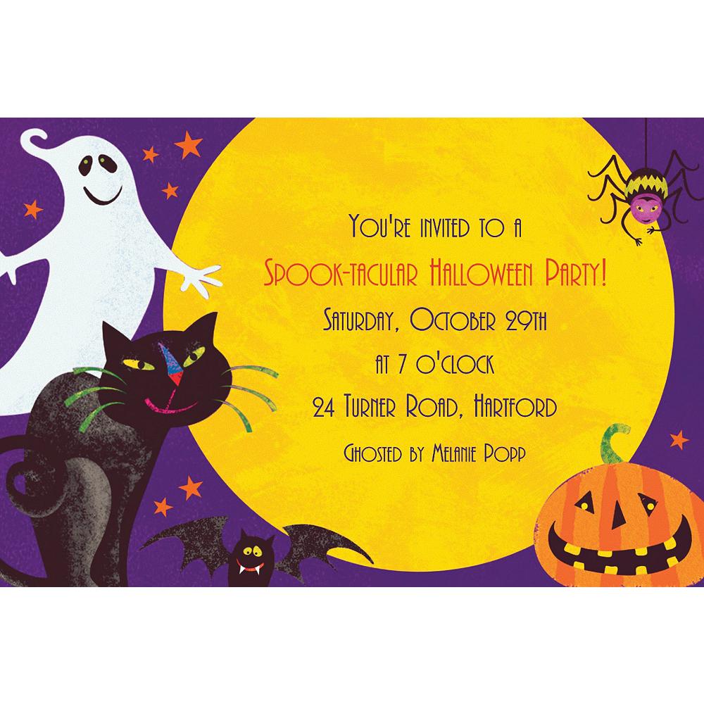 Custom Gruesome Group Halloween Invitations Image #1