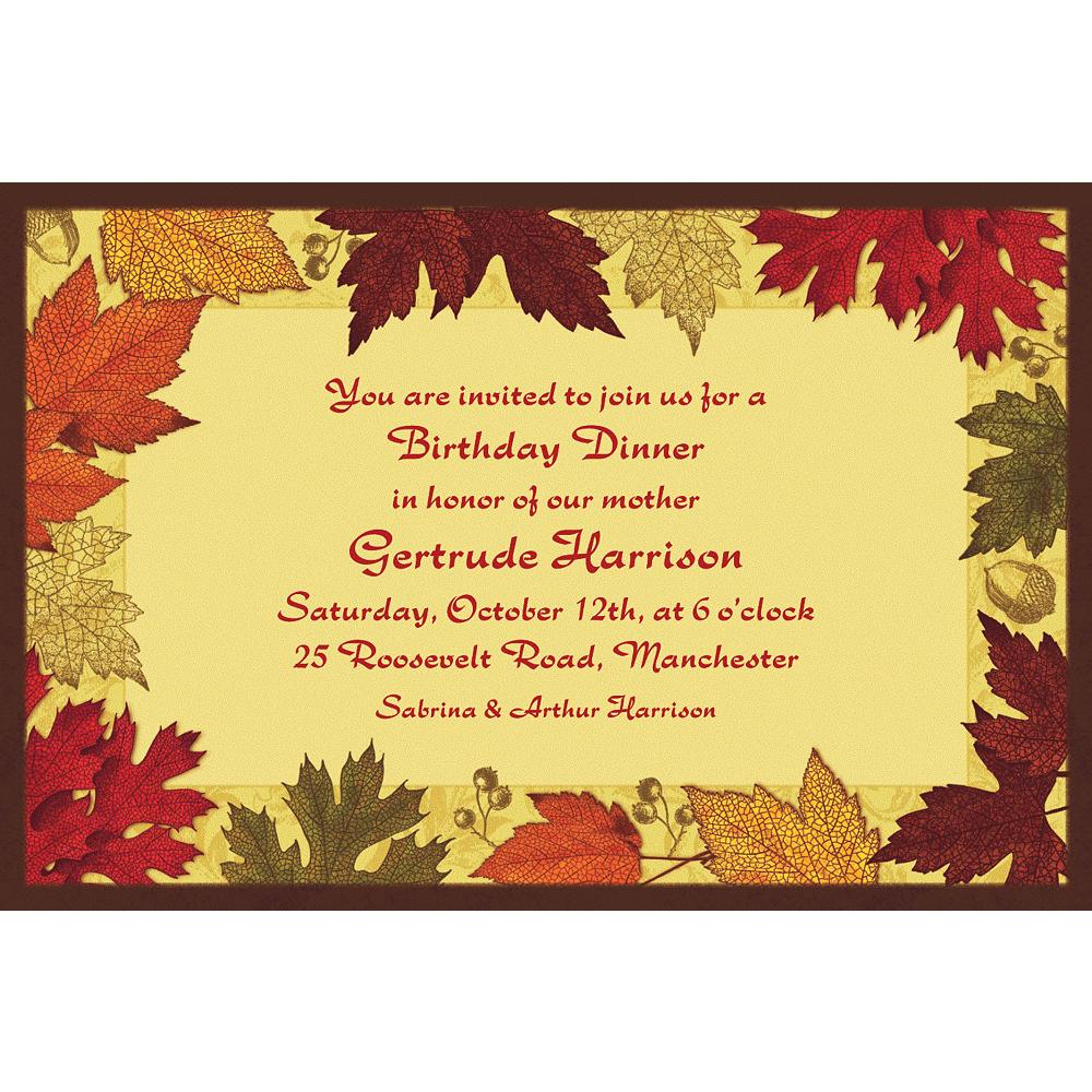 Custom Autumn Medley Invitations Image #1