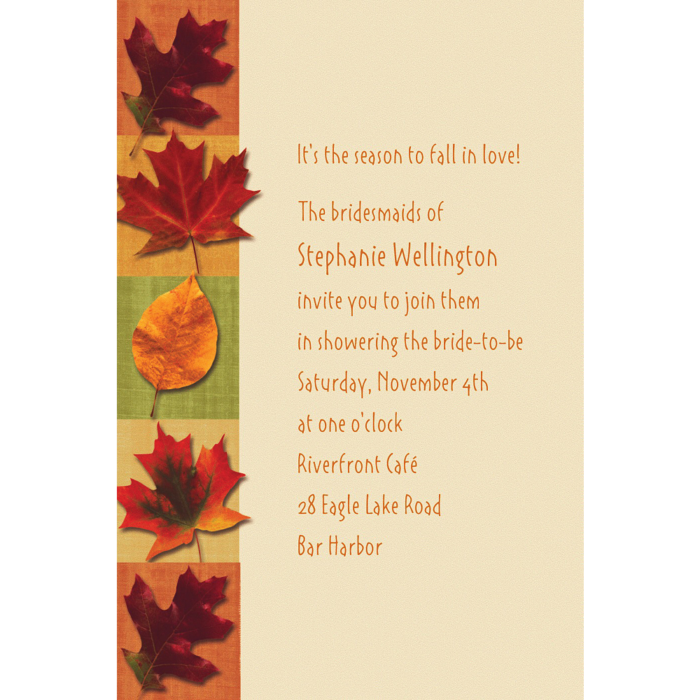 Custom Autumn Hues Invitations Image #1