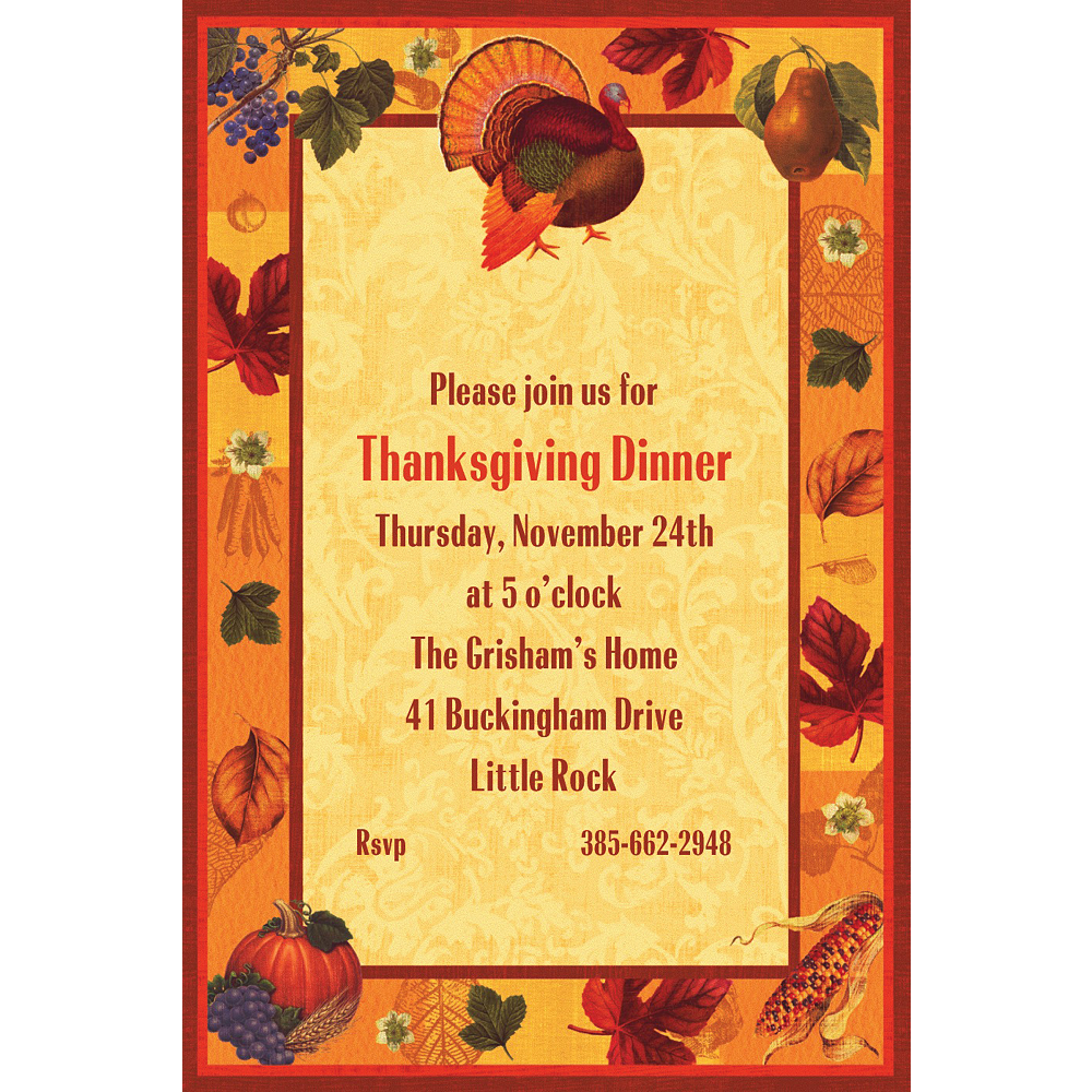 Custom Thanksgiving Scrapbook Invitations Image #1