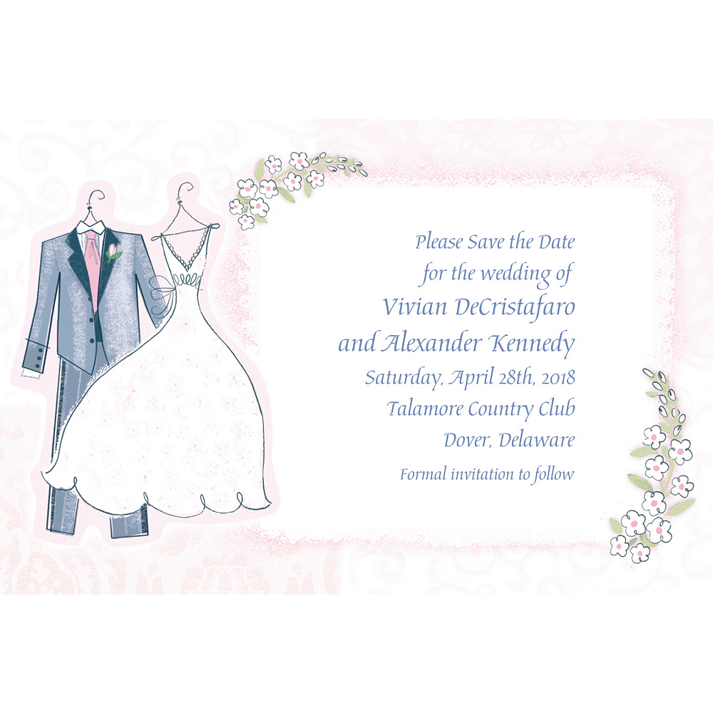 Custom Sweet Romance Wedding Invitations Image #1