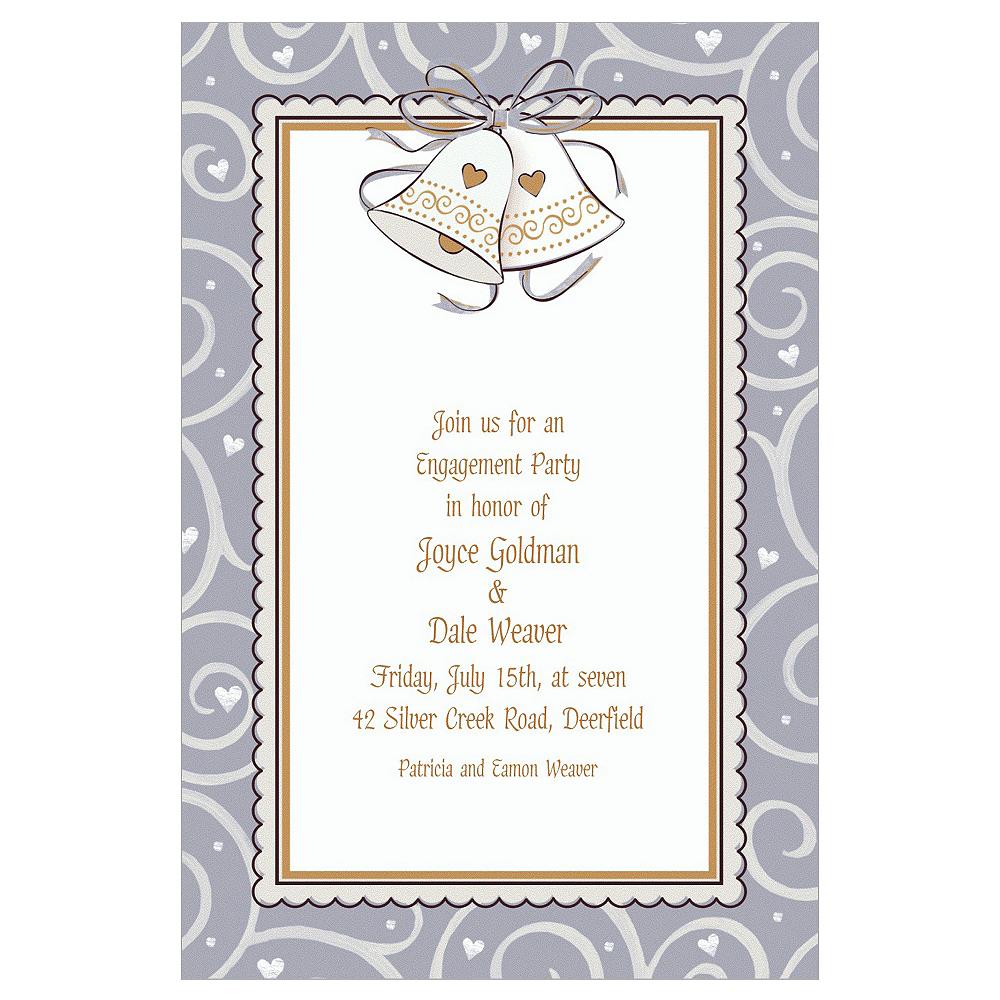 Custom Platinum Proposal Bridal Shower Invitations | Party City
