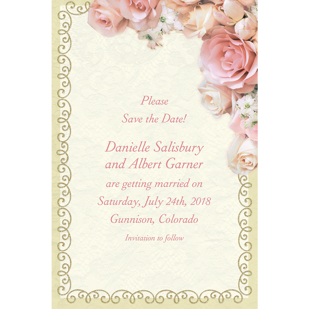 Custom Dazzling Bouquet Bridal Shower Invitations Image #1