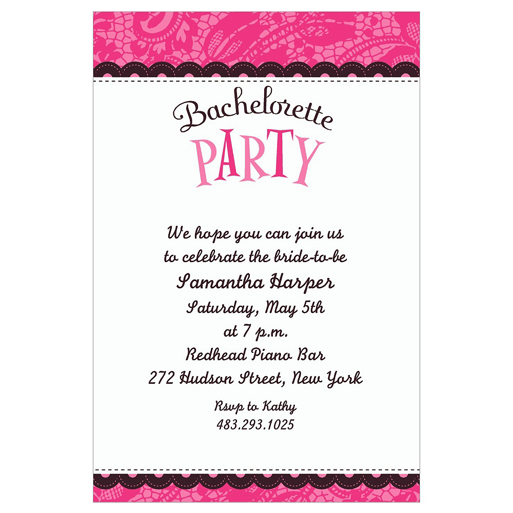 custom bachelorette party invitations party city