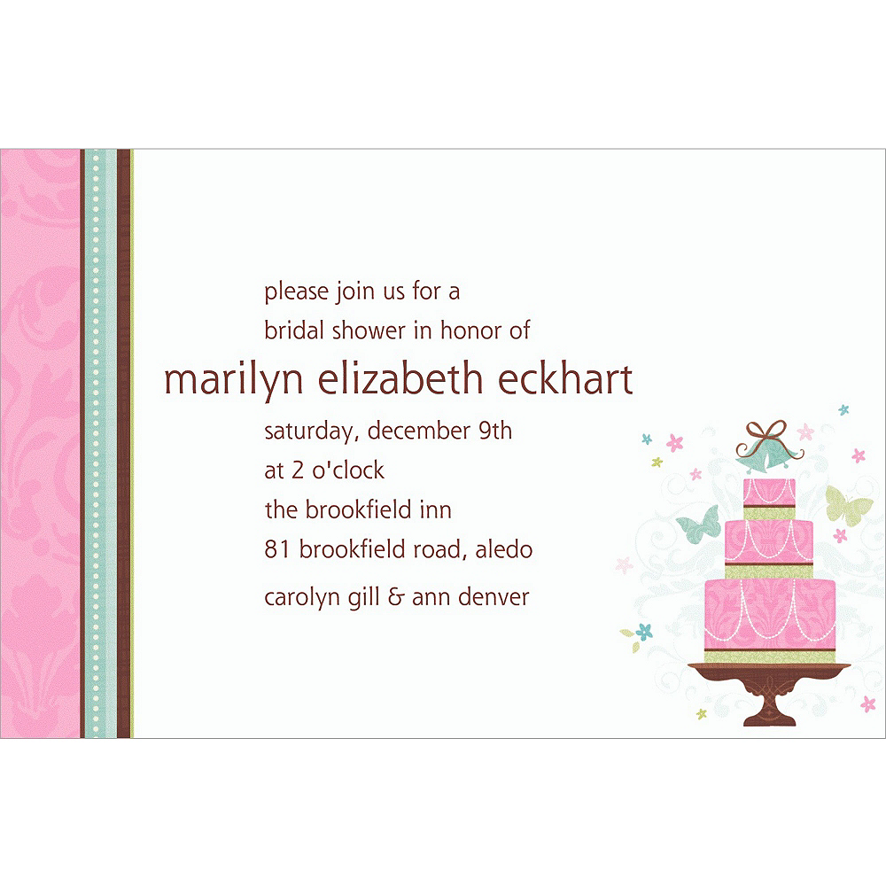 Custom Blushing Bride Bridal Shower Invitations  Image #1