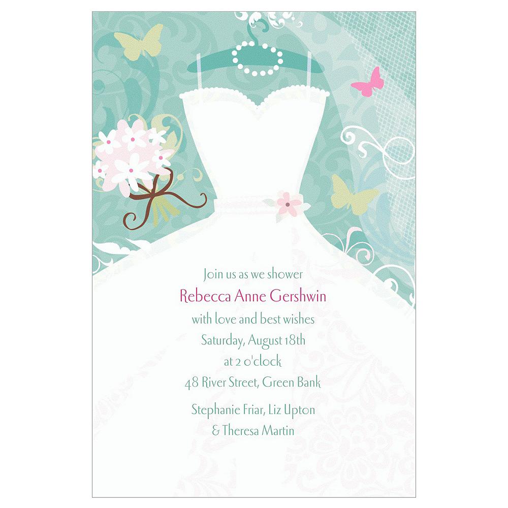 Custom Something Blue Bridal Shower Invitations | Party City
