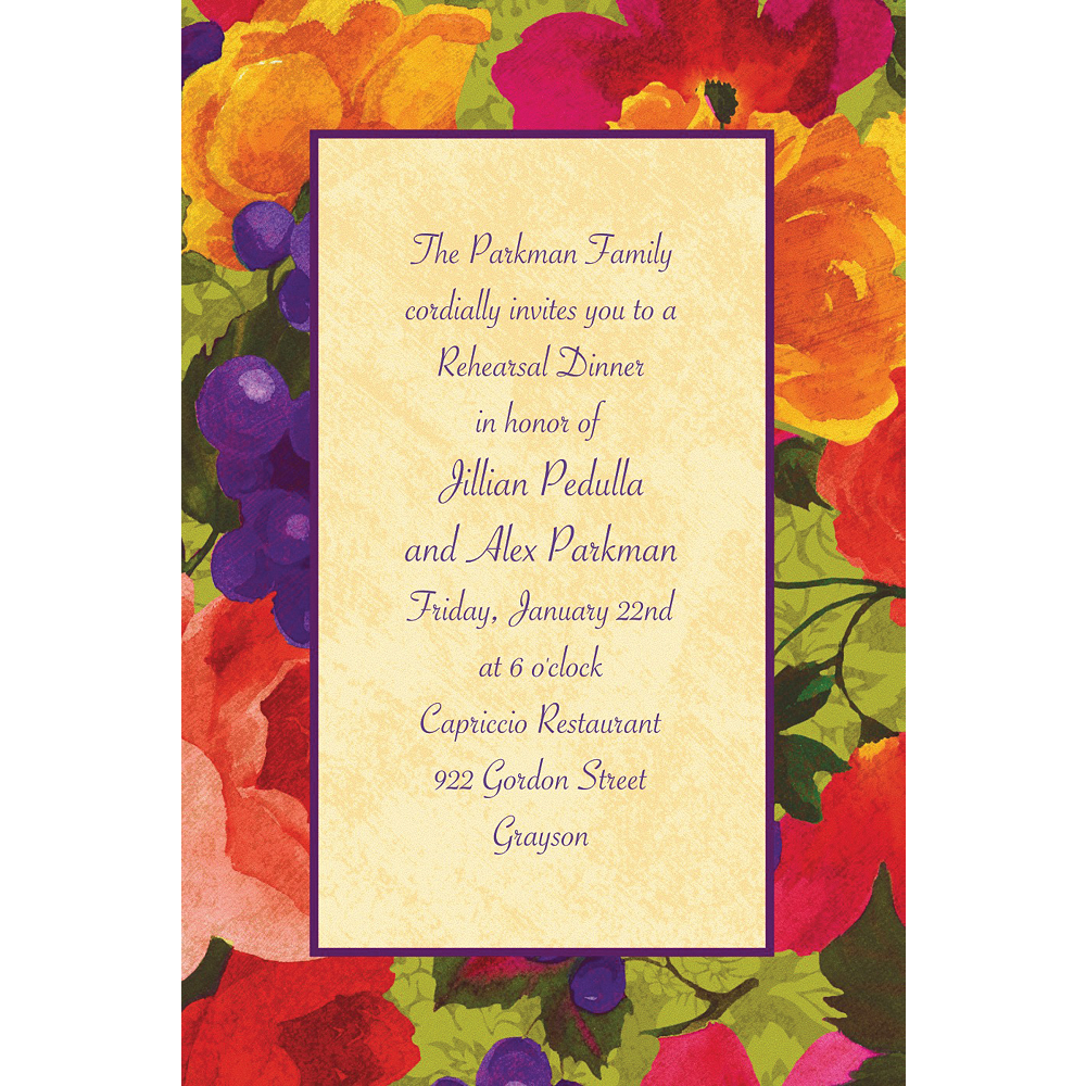 Custom Bright Blooms Invitations Image #1