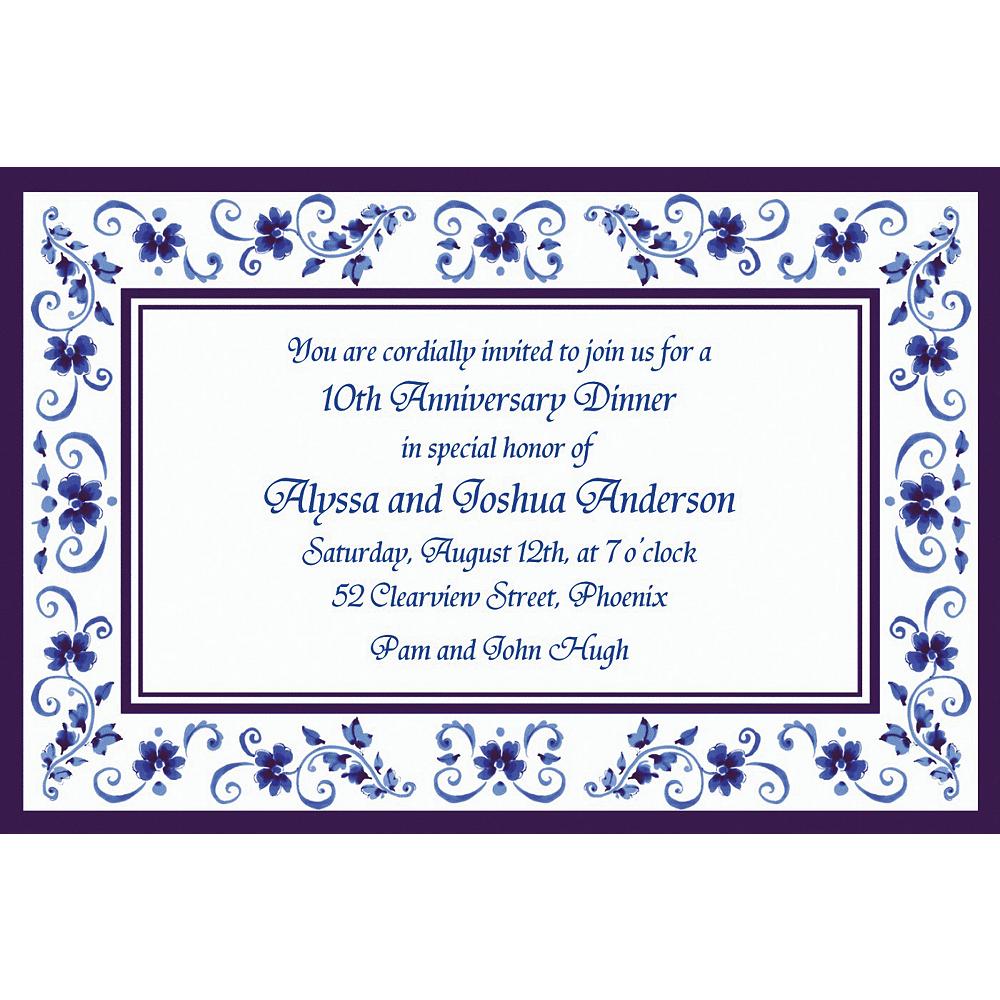 Custom Blue Provence Invitations Image #1