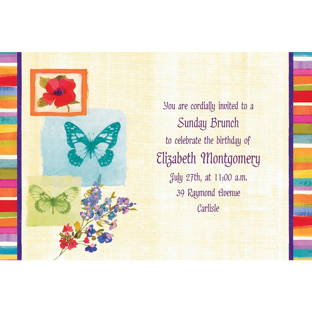 Custom Poppy Botanical Invitations Image #1