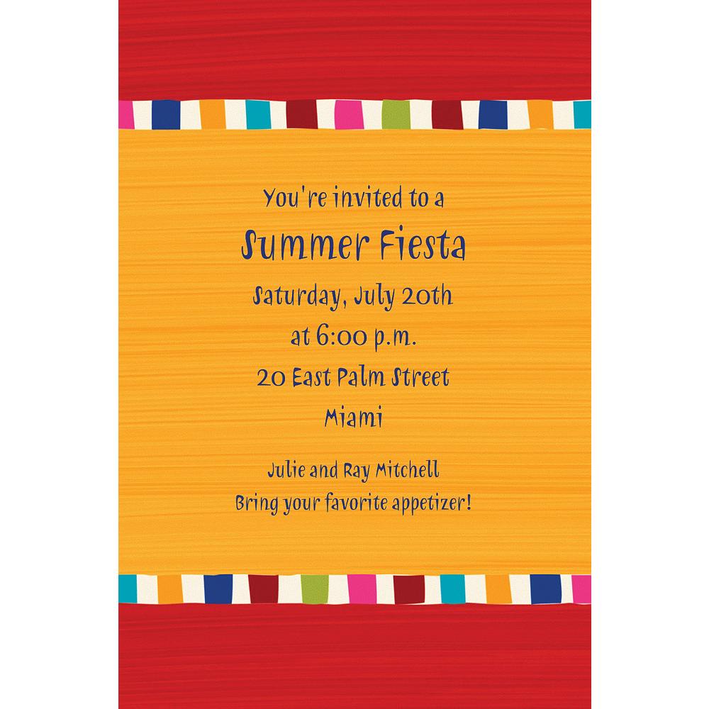 Custom Sedona Red & Yellow Invitations Image #1