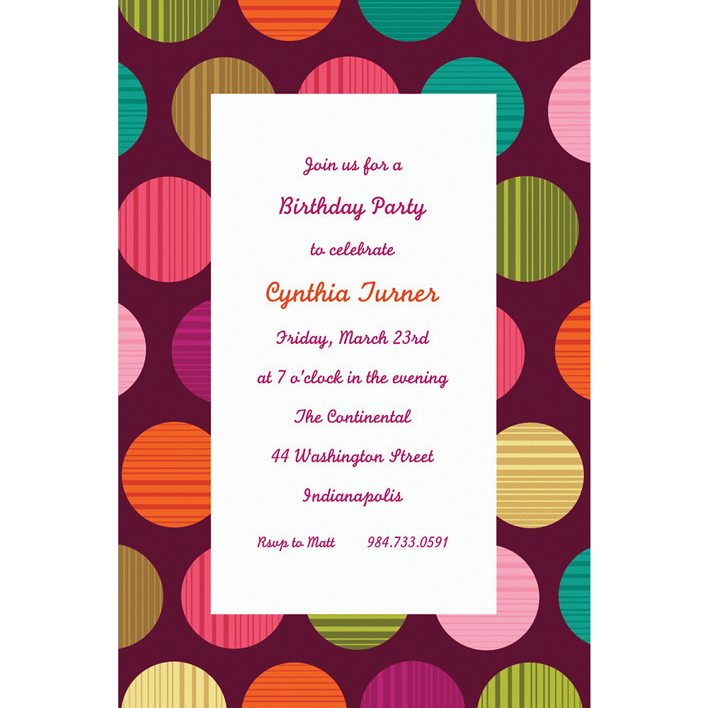 Custom On the Dot Invitations | Party City