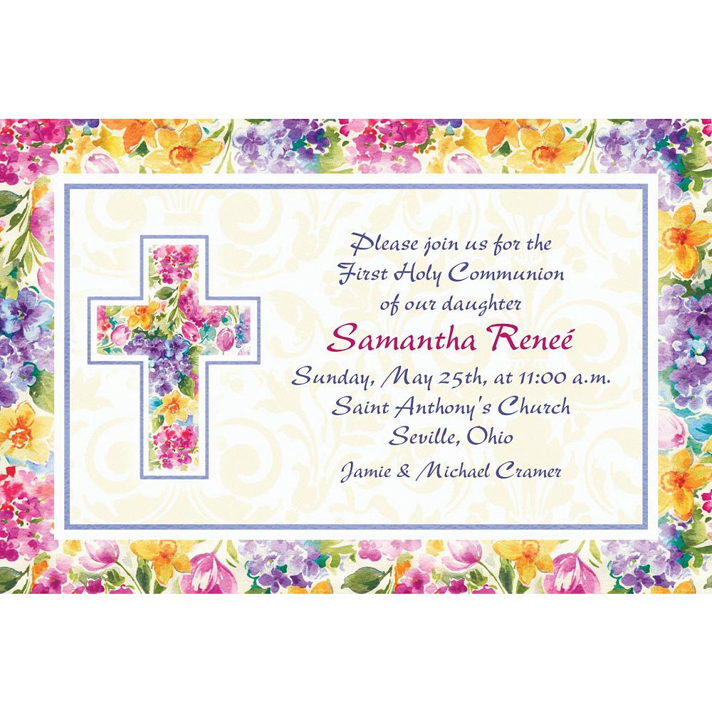 Custom Joyful Blessing Invitations Image #1