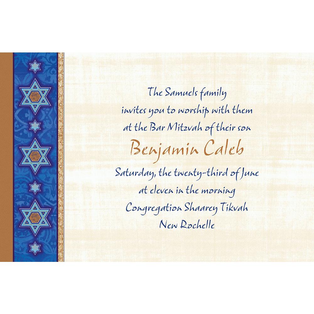 Custom Judaic Traditions Invitations Image #1