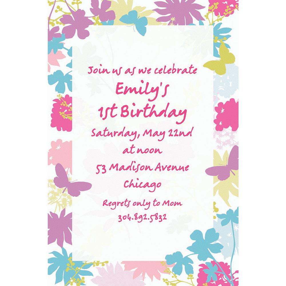 Custom Spring Silhouettes Invitations Image #1