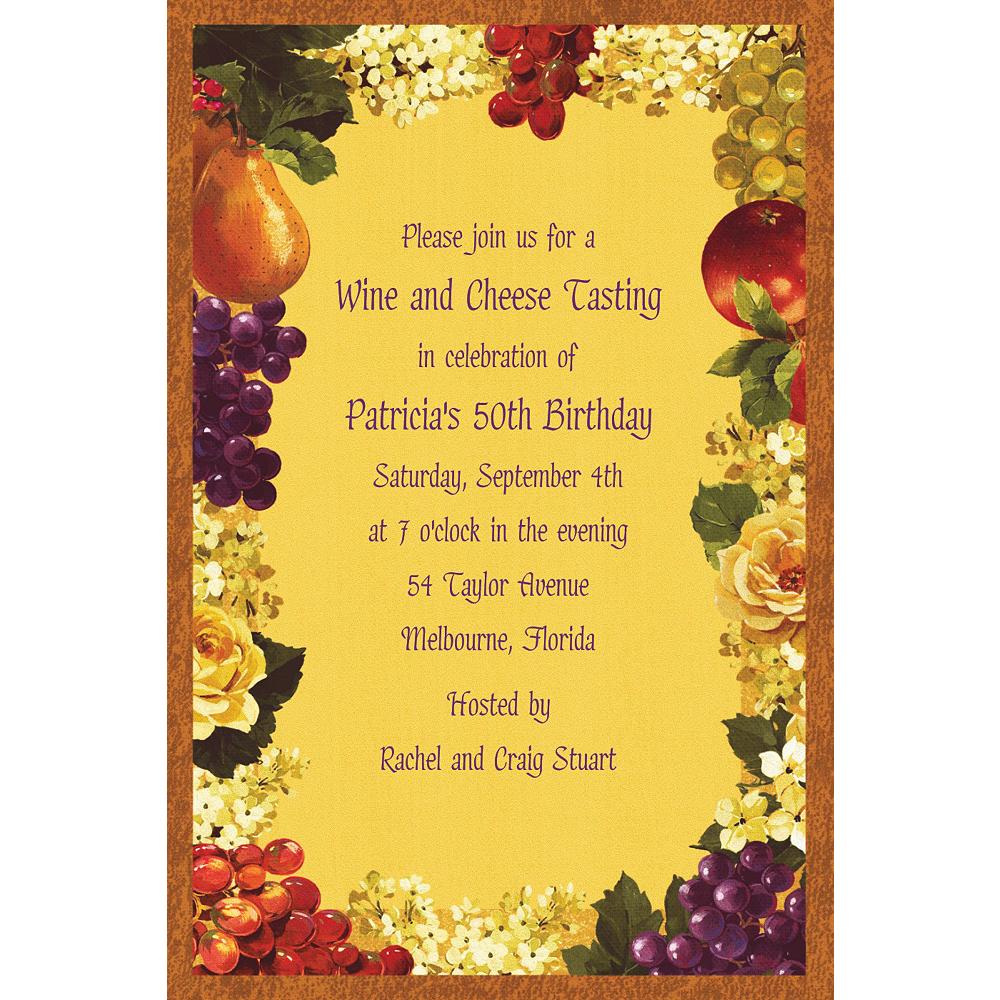 Custom Golden Orchard Invitations Image #1
