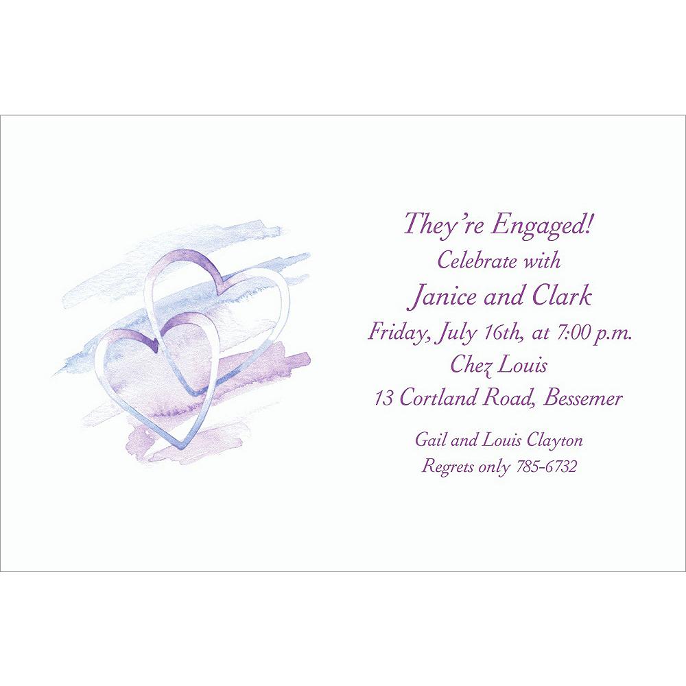 Custom Interlocked Hearts Bridal Shower Invitations Image #1