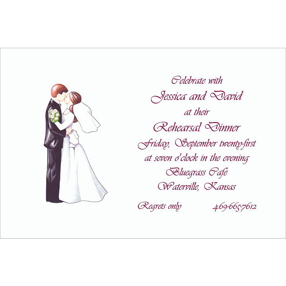 Custom Retro Wedding Couple Wedding Invitations Image #1
