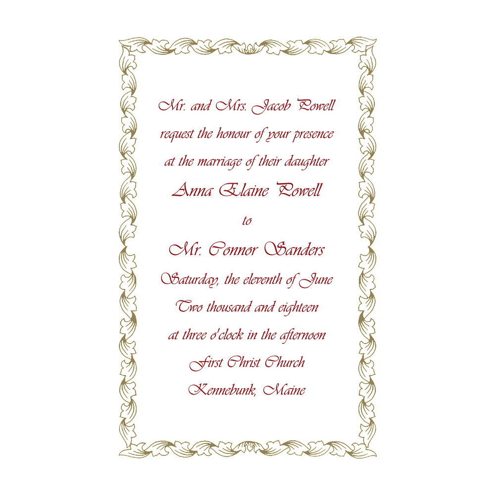 Nav Item for Custom Gold Leaf Scroll Invitations Image #1
