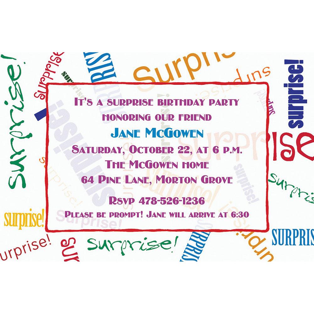 Custom Surprise Fonts Invitations Image 1