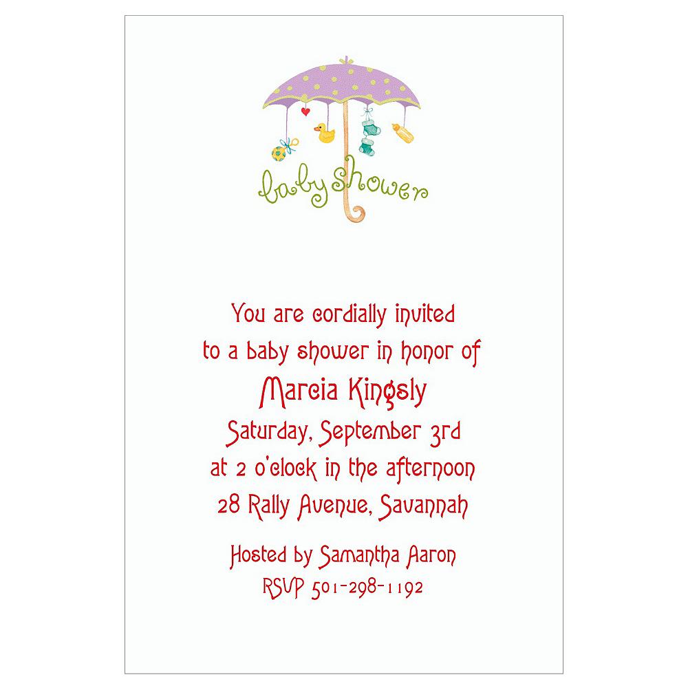 Custom Baby Shower Umbrella Baby Shower Invitations Party City