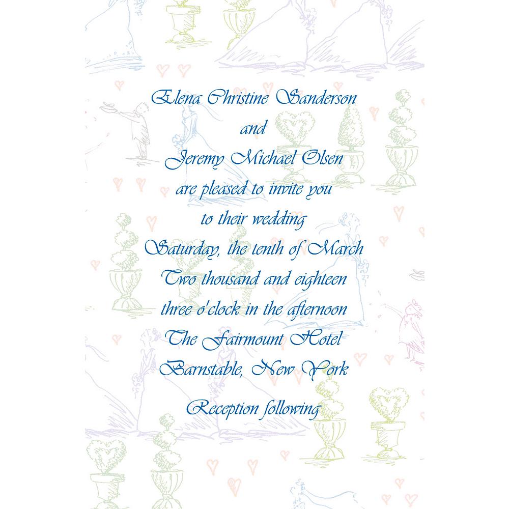 Custom Wedding Procession Toile Wedding Invitations Image #1