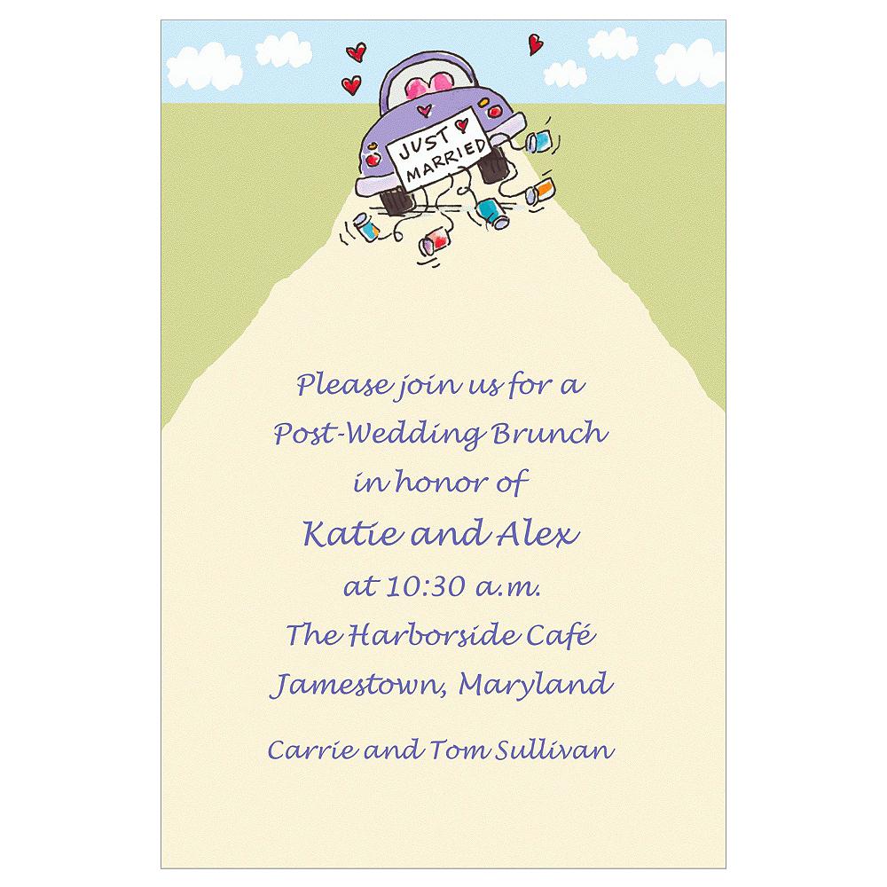 Custom Just Married Wedding Invitations Image #1