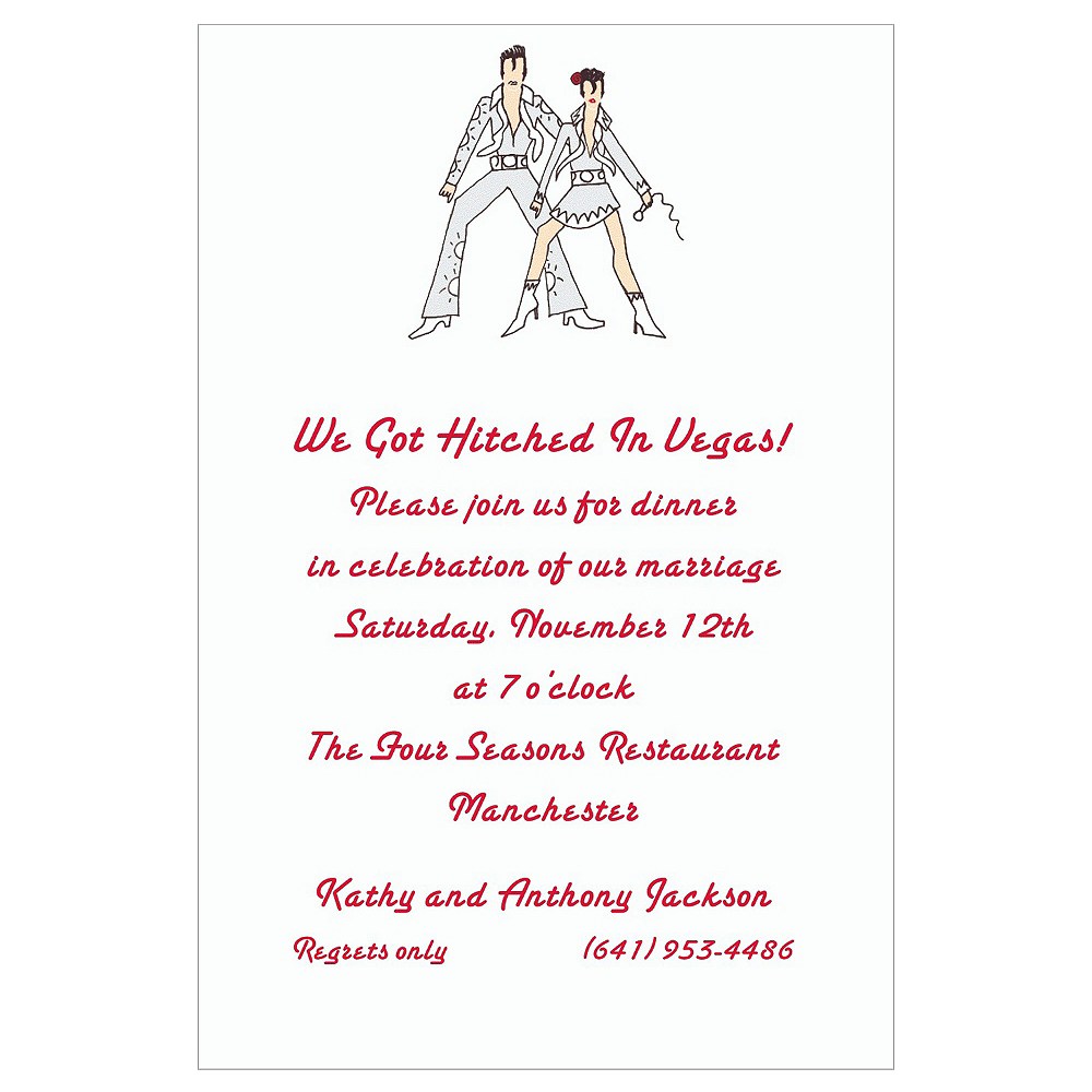 Custom Viva Las Vegas Wedding Invitations Party City