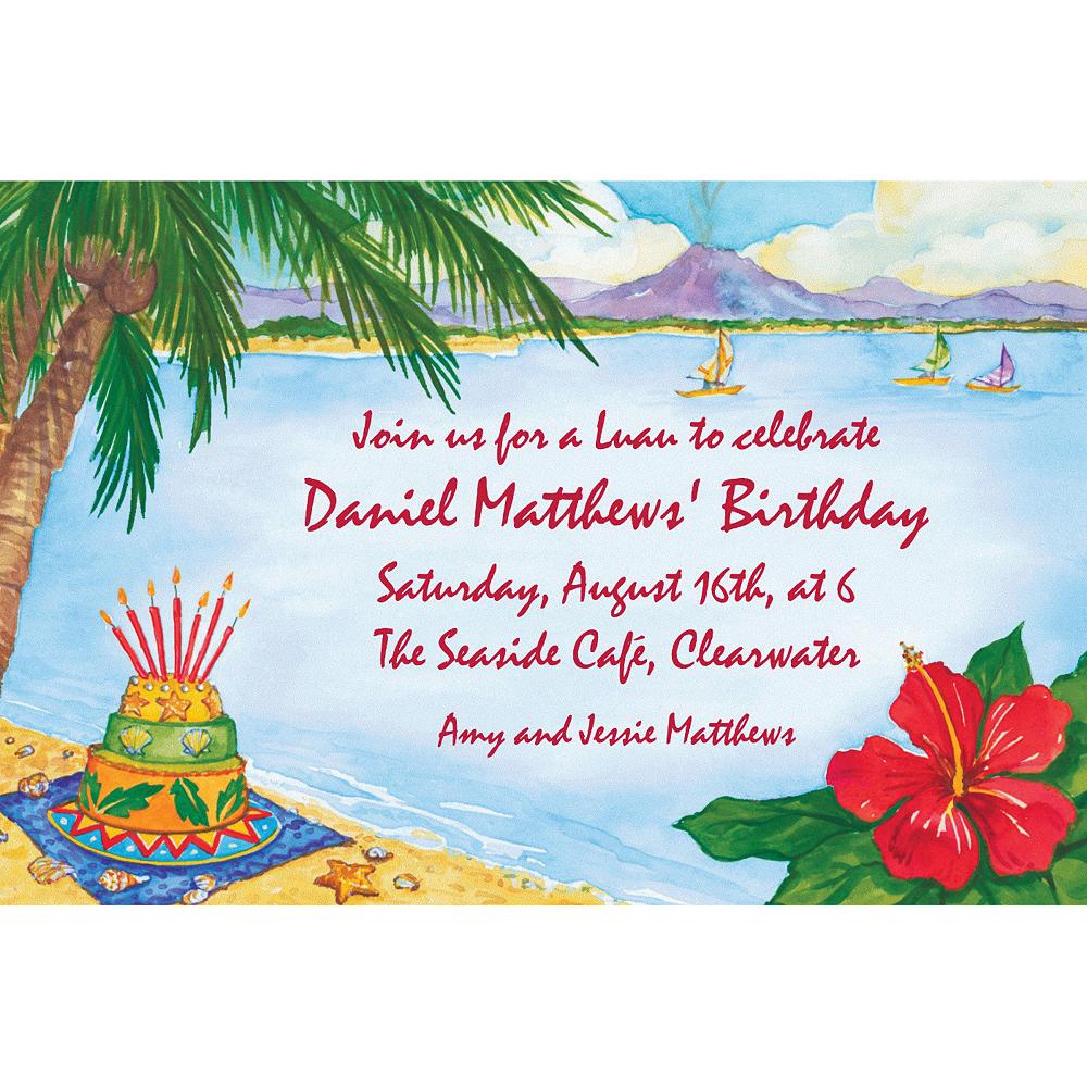 Custom Luau Birthday Invitations Image #1
