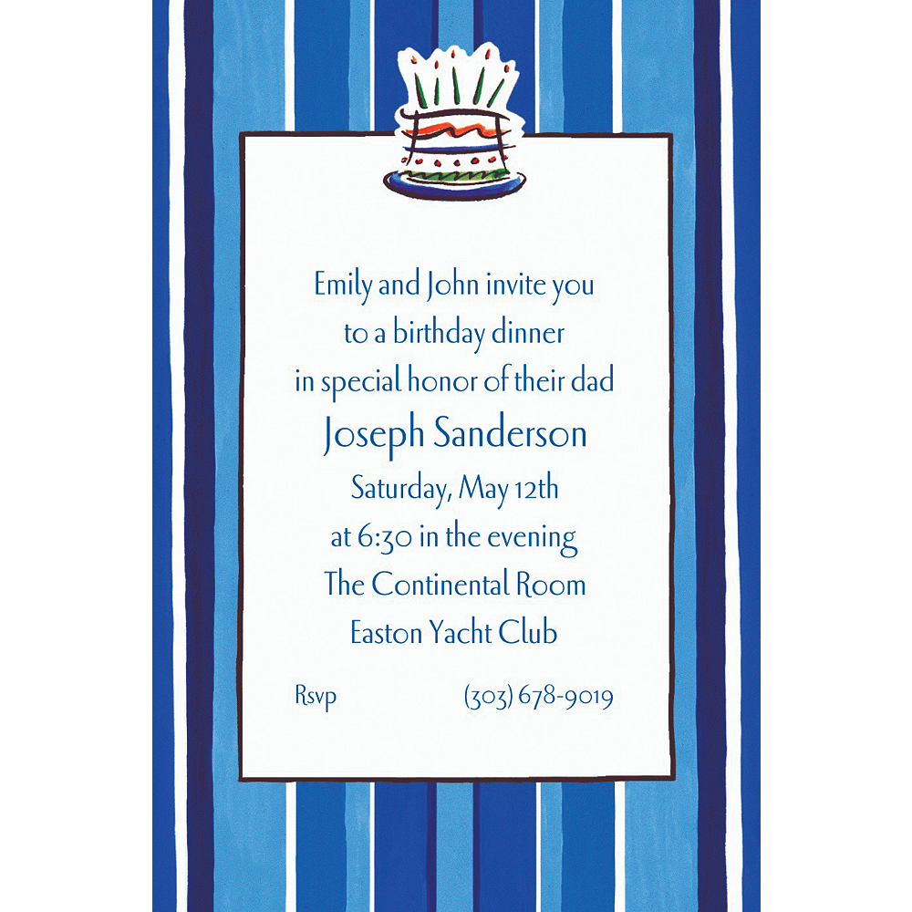 Custom Handsome Cake Birthday Invitations | Party City
