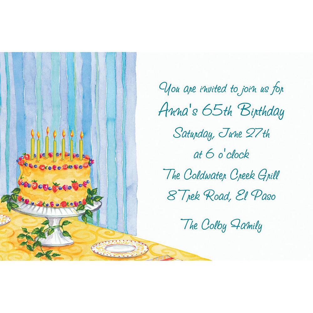 Custom Still Life Birthday Invitations Image #1
