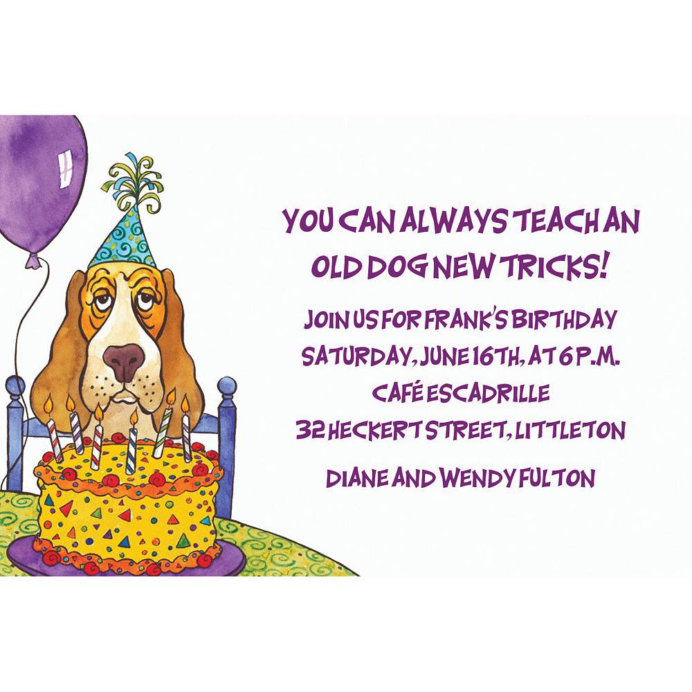 Custom Dog Years Birthday Invitations | Party City