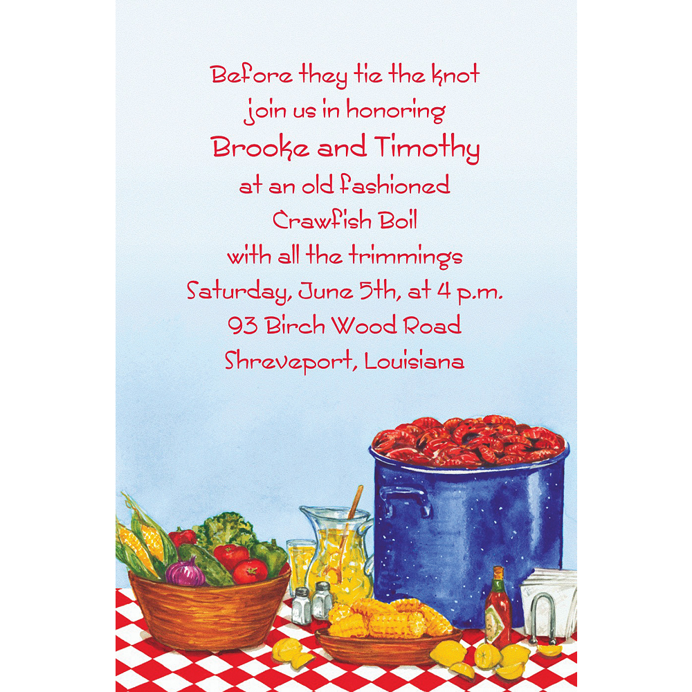 Custom Party with Crawfish Invitations Image #1