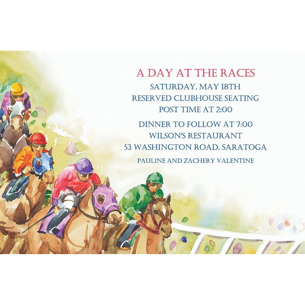Custom Racehorses Invitations Image #1