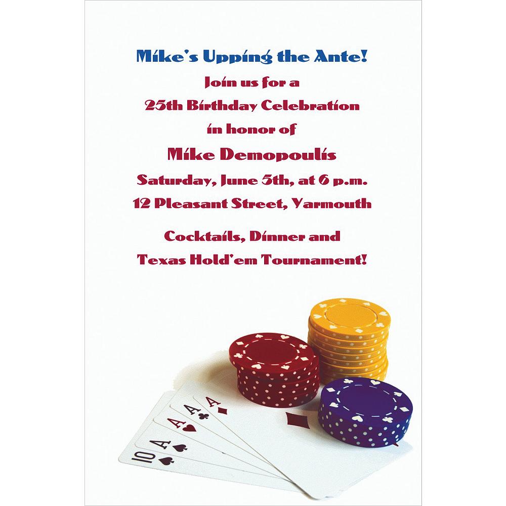 Custom Poker Table Invitations Image #1