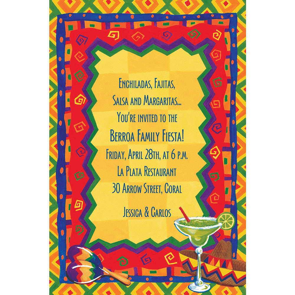 custom colorful fiesta invitations party city