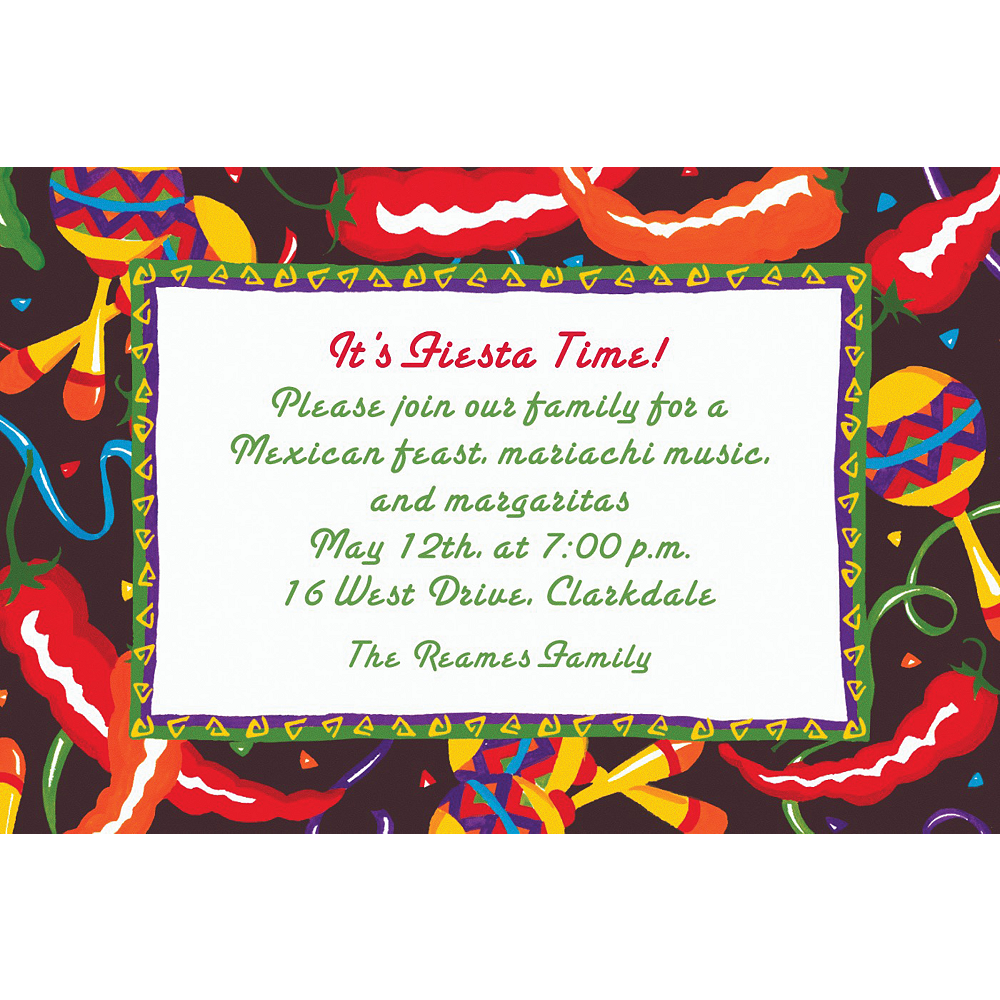 Custom Chilis & Maracas Invitations Image #1