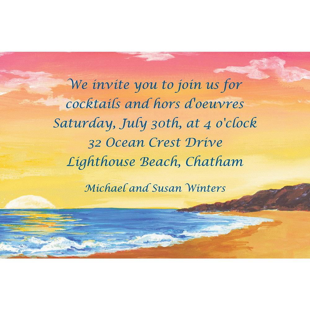 Custom Sunset on the Beach Invitations Image #1