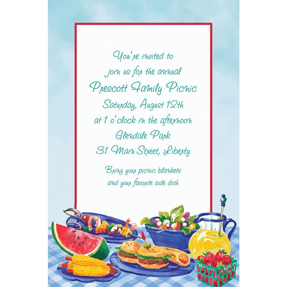 Custom Summer Picnic Invitations Image #1
