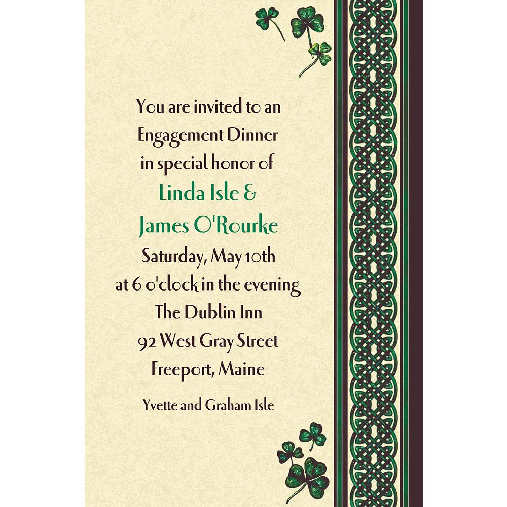 Custom Celtic Knot & Clovers St. Patrick's Day Invitations Image #1