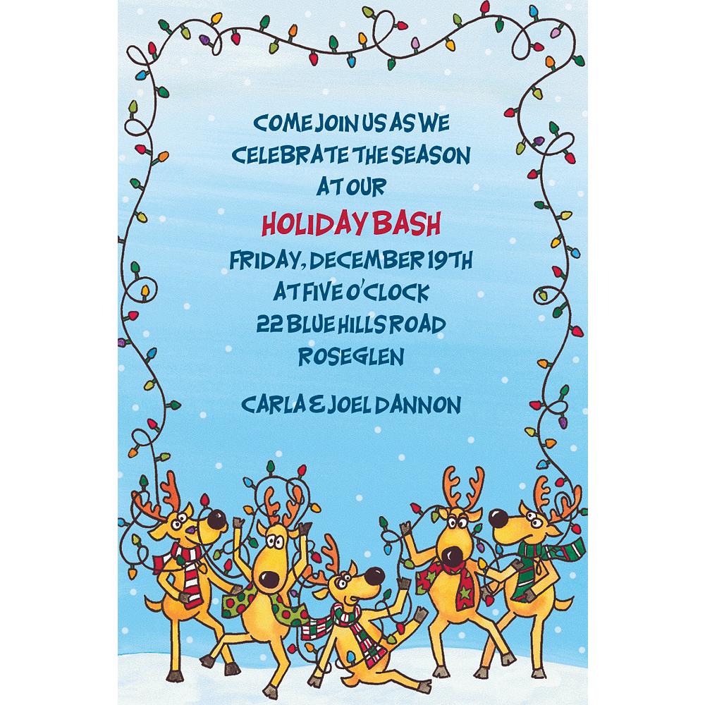 Custom The Reindeer Decorating Fiasco Invitations Image #1