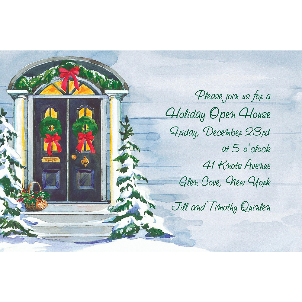 Custom Christmas Front Door Invitations Image #1