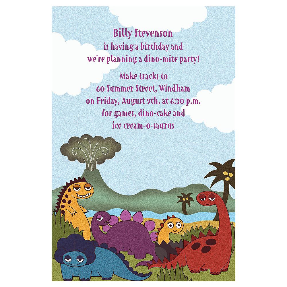 Custom Little Dinosaurs Invitations Image #1