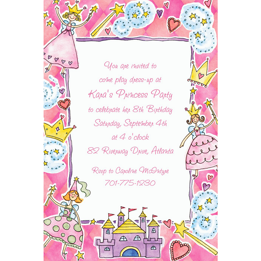 Custom Princess Party Invitations  Image #1