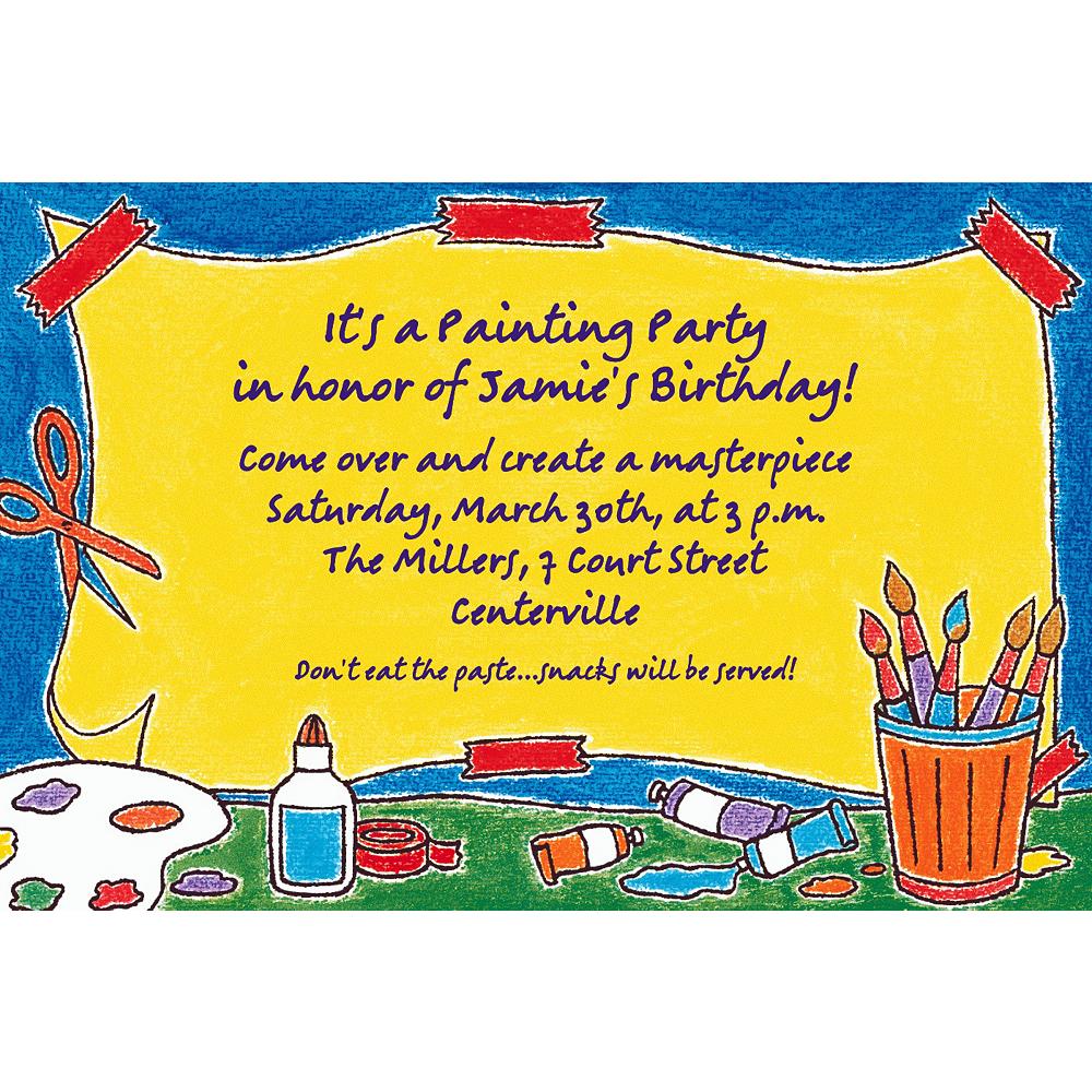 Custom Artists' Party Invitations Image #1