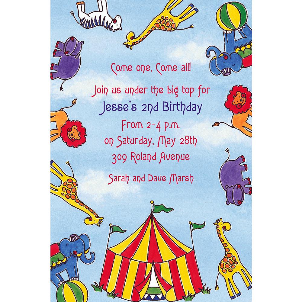 Custom Flying Circus Invitations Image #1