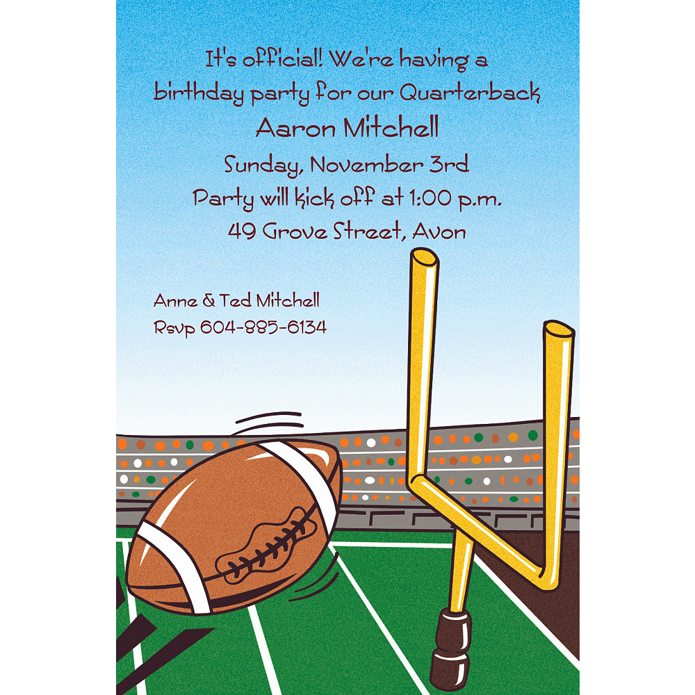 Custom Field Goal Invitations  Image #1